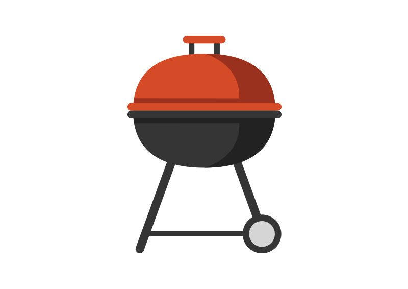 A barbecue grill