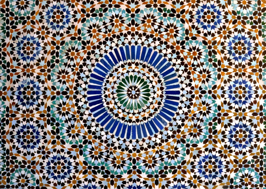 A tiled mosaic from the Mosquee de Paris.