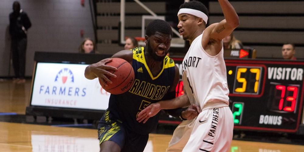 Curtis Davison dribbles the ball past a Davenport player.