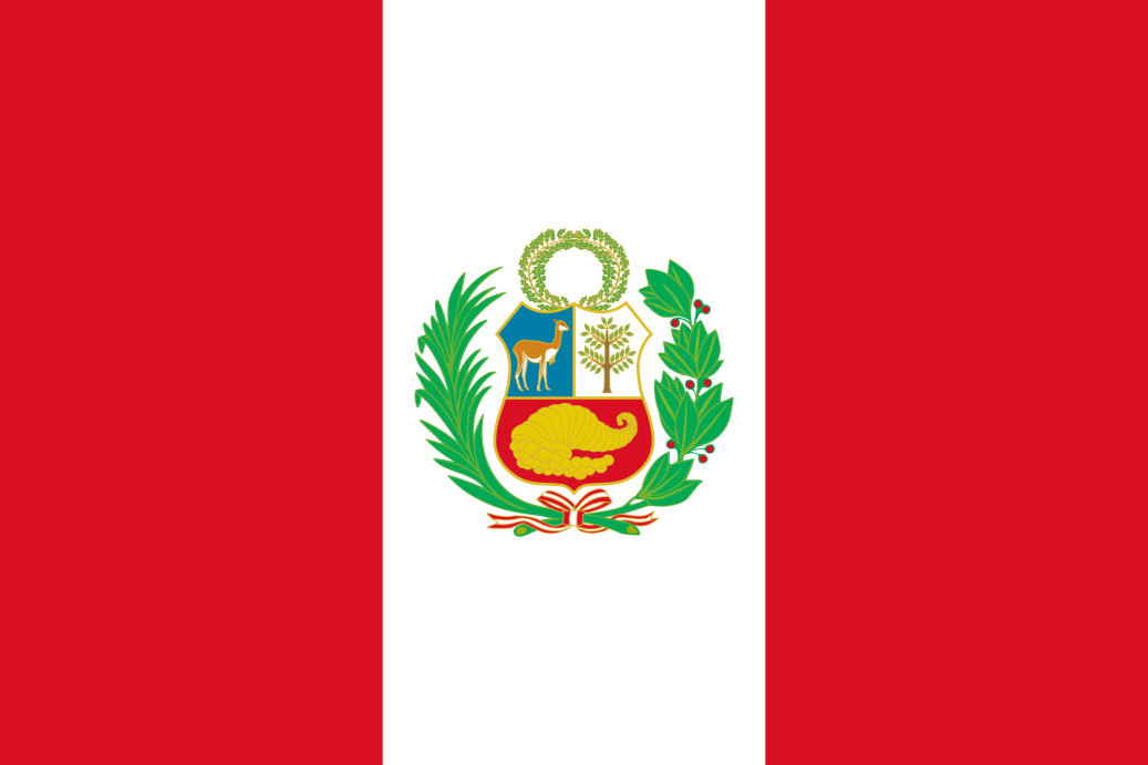 The Peruvian flag