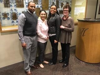 Geoffrey Beene, Yamel Marmolejos-Tolentino, Tracy Harrell and Judith Kienitz