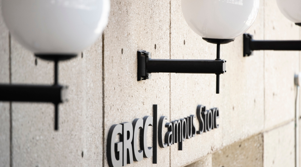 The sign for the GRCC Campus Store.
